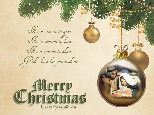 religious christmas cards clipart - Clipground