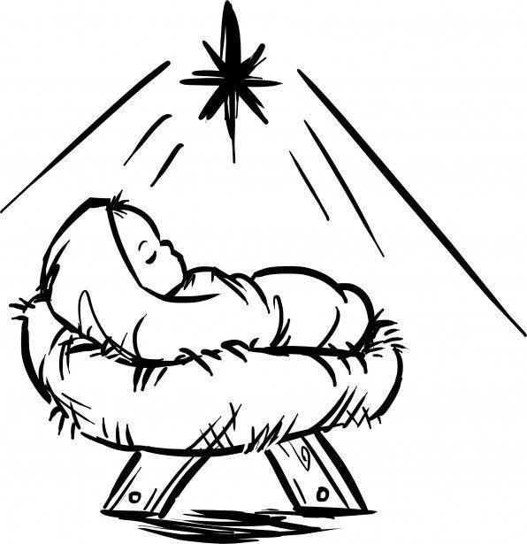 Baby Jesus Clipart Black White   101 Clip Art.
