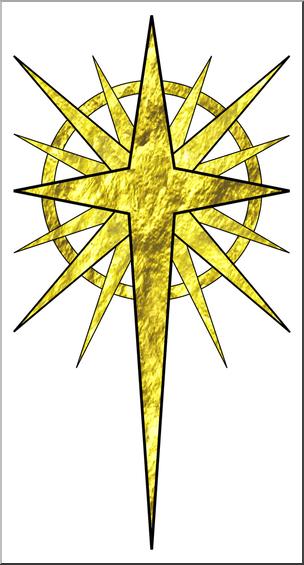 Clip Art: Religious: Christmas Star 1 Color 1 I abcteach.com.