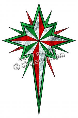 Christmas star clip art..