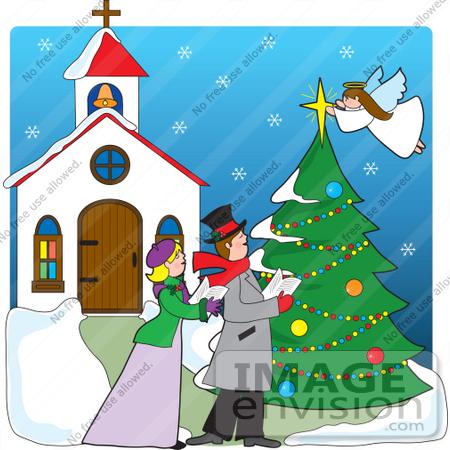 Christmas clip art church.