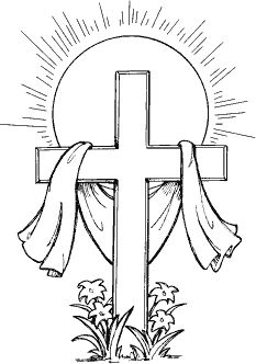 religious easter clipart blac #8