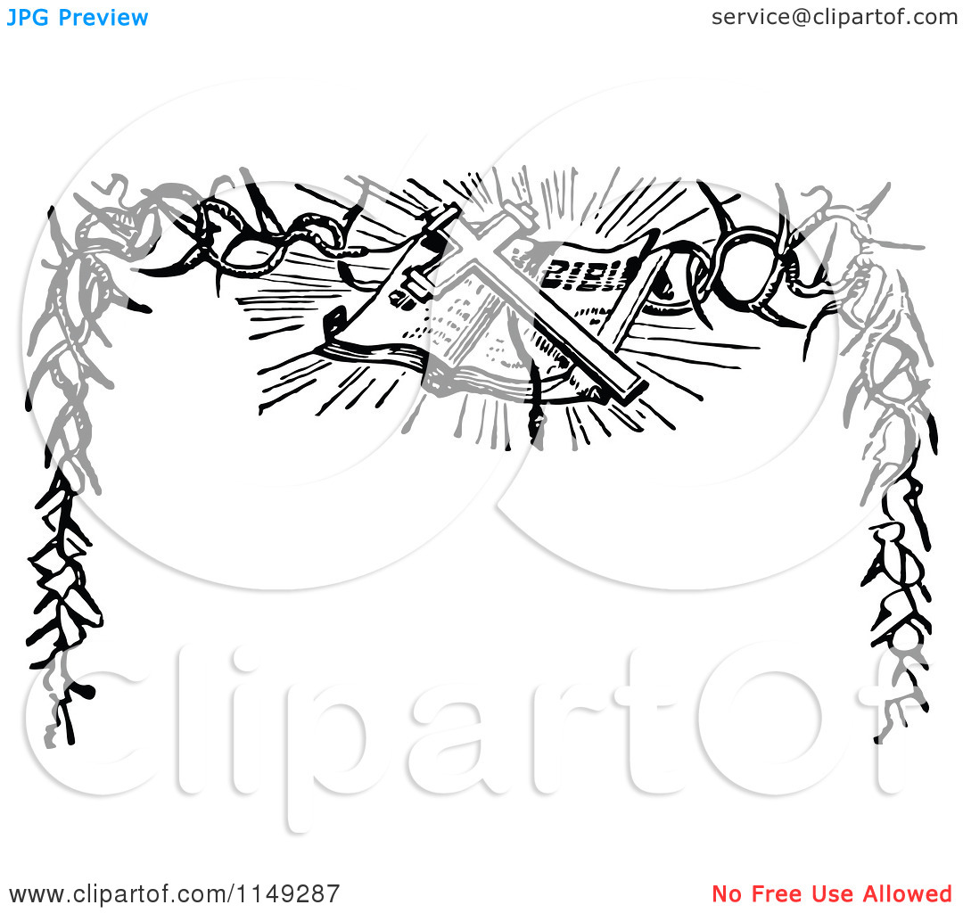 Religious Easter Border Clipart Black And White.