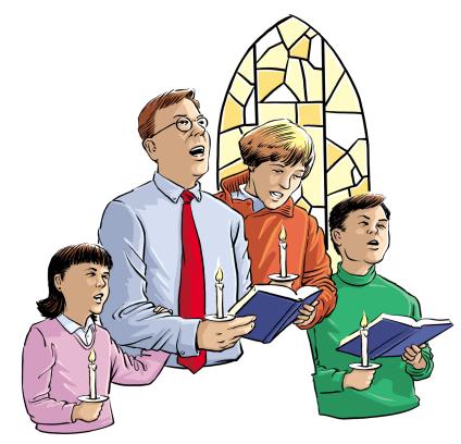 Religious Family Clipart.