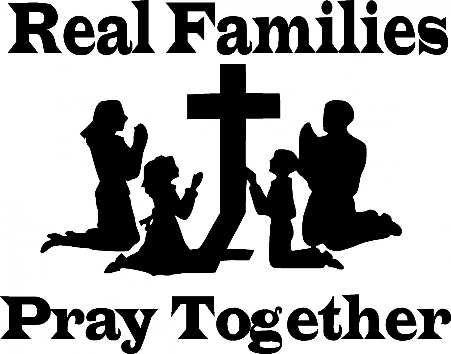 Praying Family Clipart.