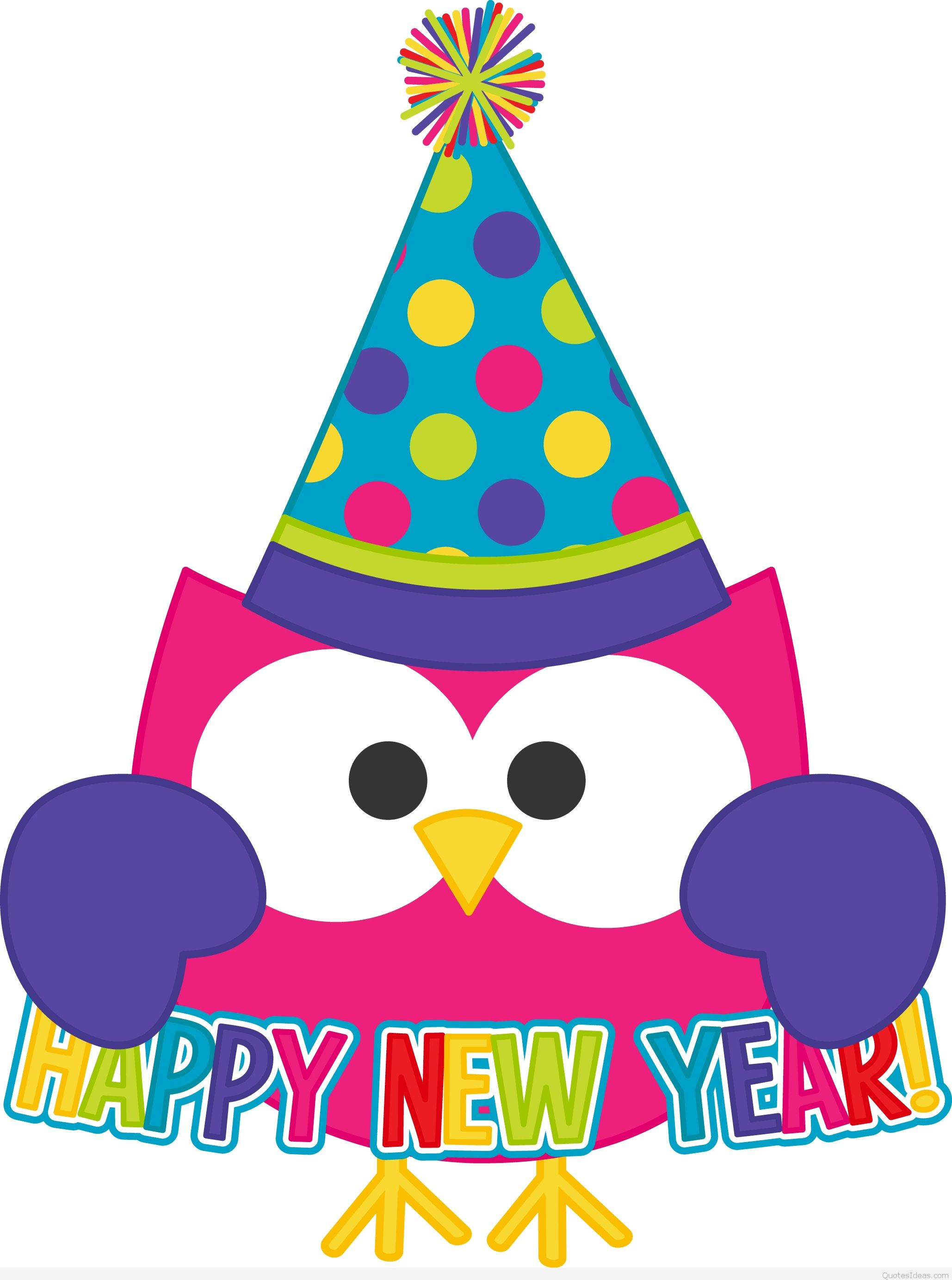 Happy new year free clip art wallpapers.