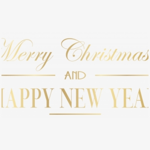Merry Christmas & Happy New Year Png.