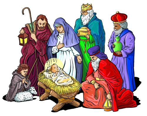 84+ Free Christmas Religious Clip Art.