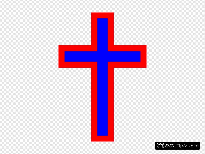 Patriotic Cross Clip art, Icon and SVG.