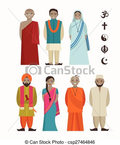 EPS Vector of Indian people.