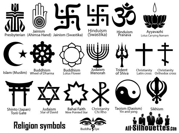 Religion Symbols Vector.