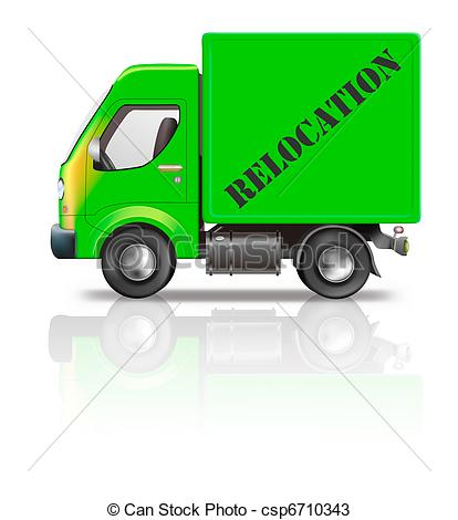 Stock Photos of relocation truck.