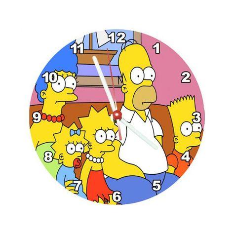Relógio Decorativo Simpsons Família no Sofa em 2019.