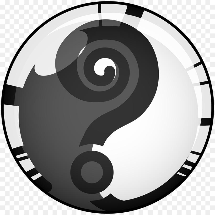 Relógio face Yin e yang Clip.