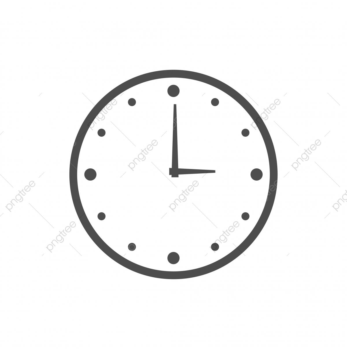 Relógio De Parede Modelo Logotipo ícone Vector Illustration.