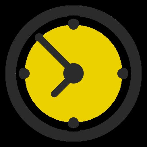Relógio de escritório colorido ícone de traçado.