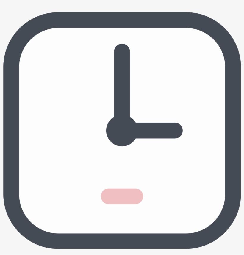 Square Clock Icon.