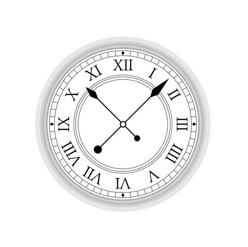 Vetor do relógio antigo.
