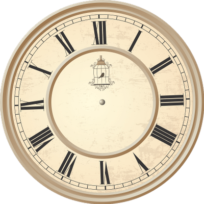 Reloj Gustav Becker Antiguo PNG transparente.