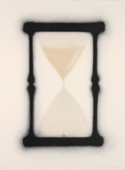 Ed Ruscha, print, Reloj de arena.