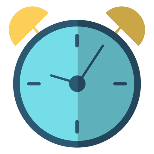 Ilustración de golpe de reloj de alarma.