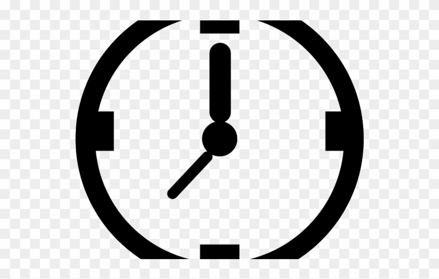 Oval Clipart Clock.