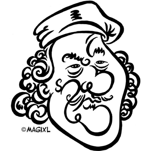 caricature clipart artist.
