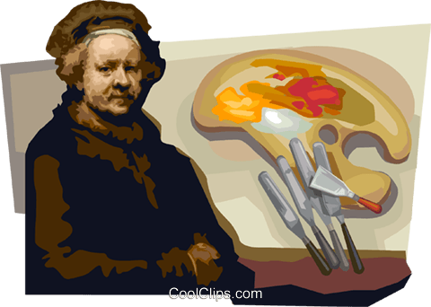 Rembrandt Harmenszoon van Rijn Royalty Free Vector Clip Art.