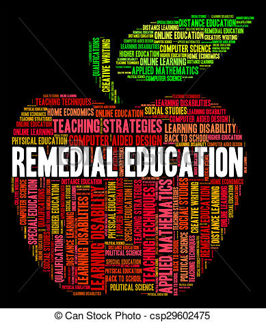 Stock Illustrations of Remedial Education Indicates Study Learning.