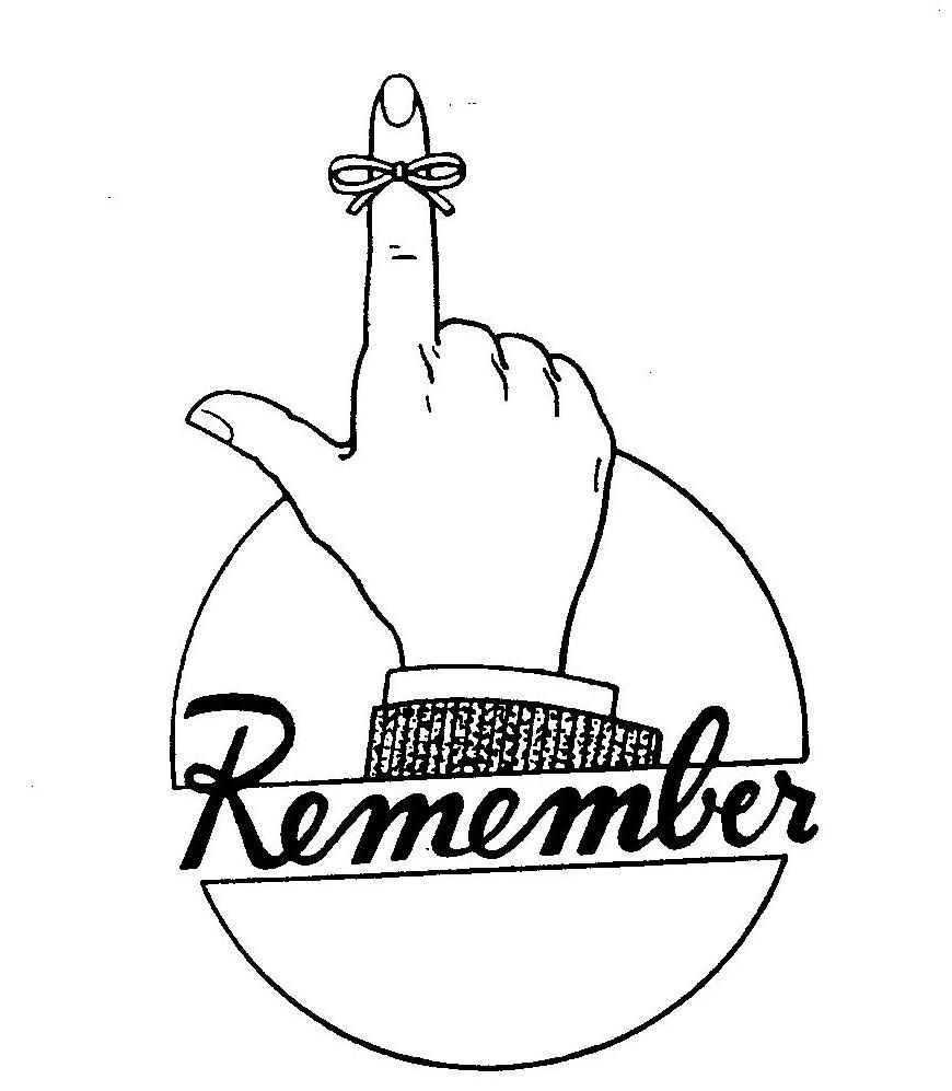 1004 Remember free clipart.