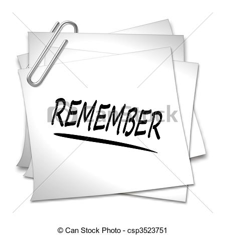 Remember Clipart and Stock Illustrations. 12,970 Remember vector.