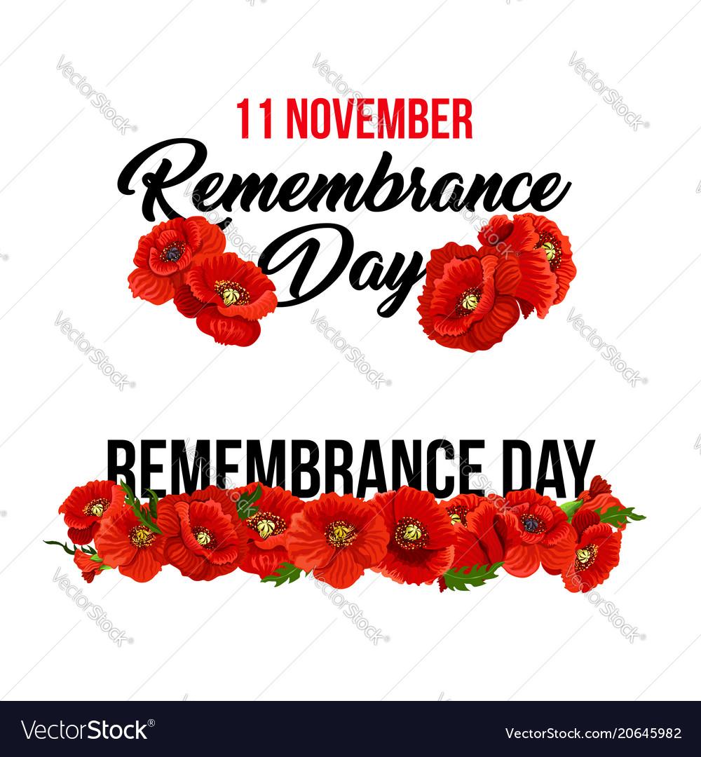 11 november remembrance day poppy icons.