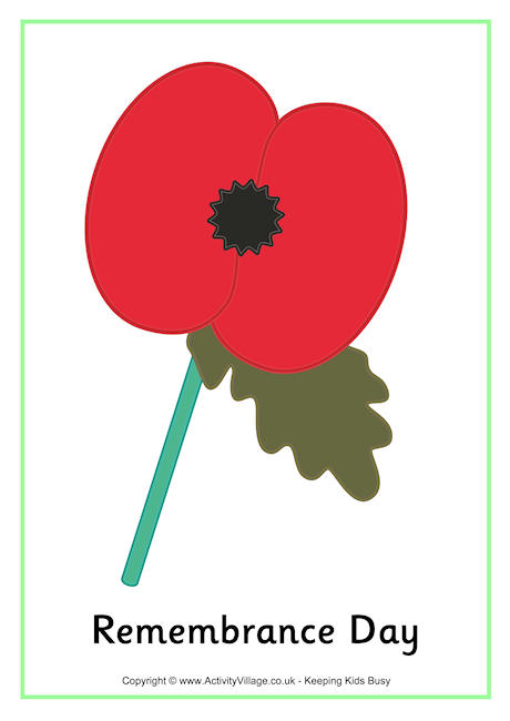 Remembrance Day Printables.