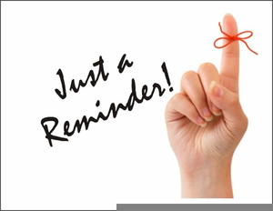 Just A Reminder Clipart.