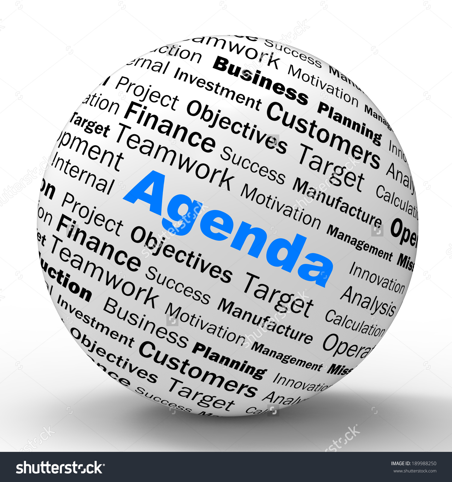 Agenda Sphere Definition Meaning Schedule Planner Stock.