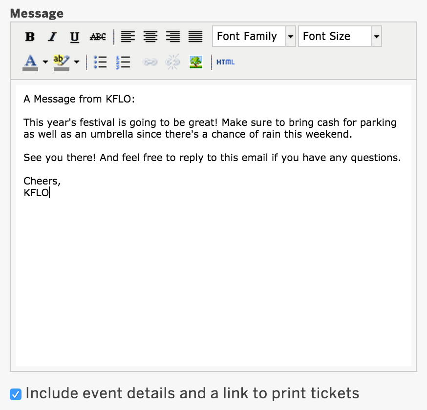How to email your attendees through Eventbrite.