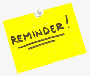 Free Reminders Clip Art with No Background.