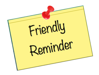 Clipart friendly reminder.
