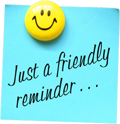 Just A Friendly Reminder Clipart.