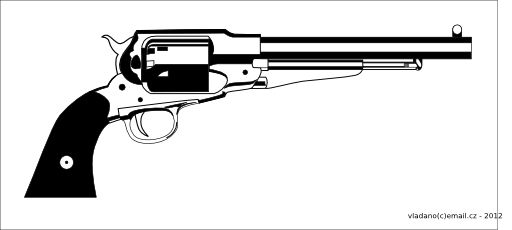 Revolver Remington 1858 New Model the title of this royalty free.
