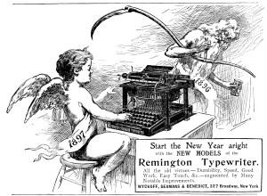 Remington Typewriter Advertisement.
