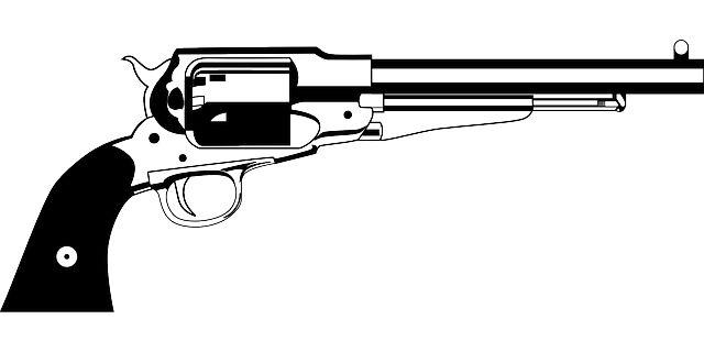 Revolver Clipart.