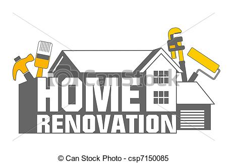 Home remodeling clipart.