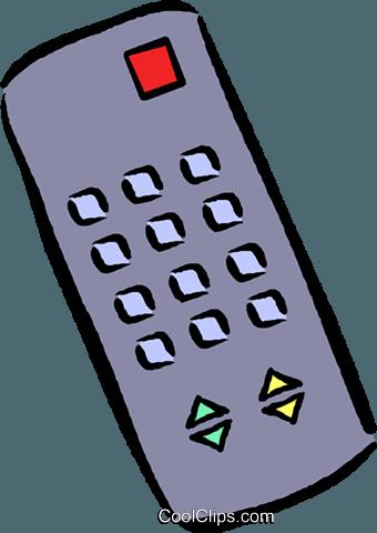 remote control Royalty Free Vector Clip Art illustration.