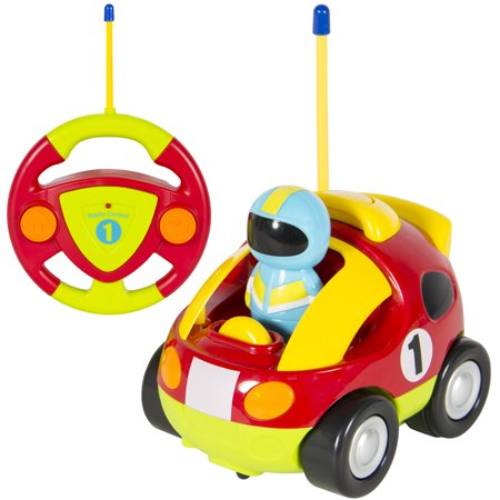 Best Choice Products 2 Channel Kids Beginner Remote Control Cartoon Racing  Car Perfect Gift.