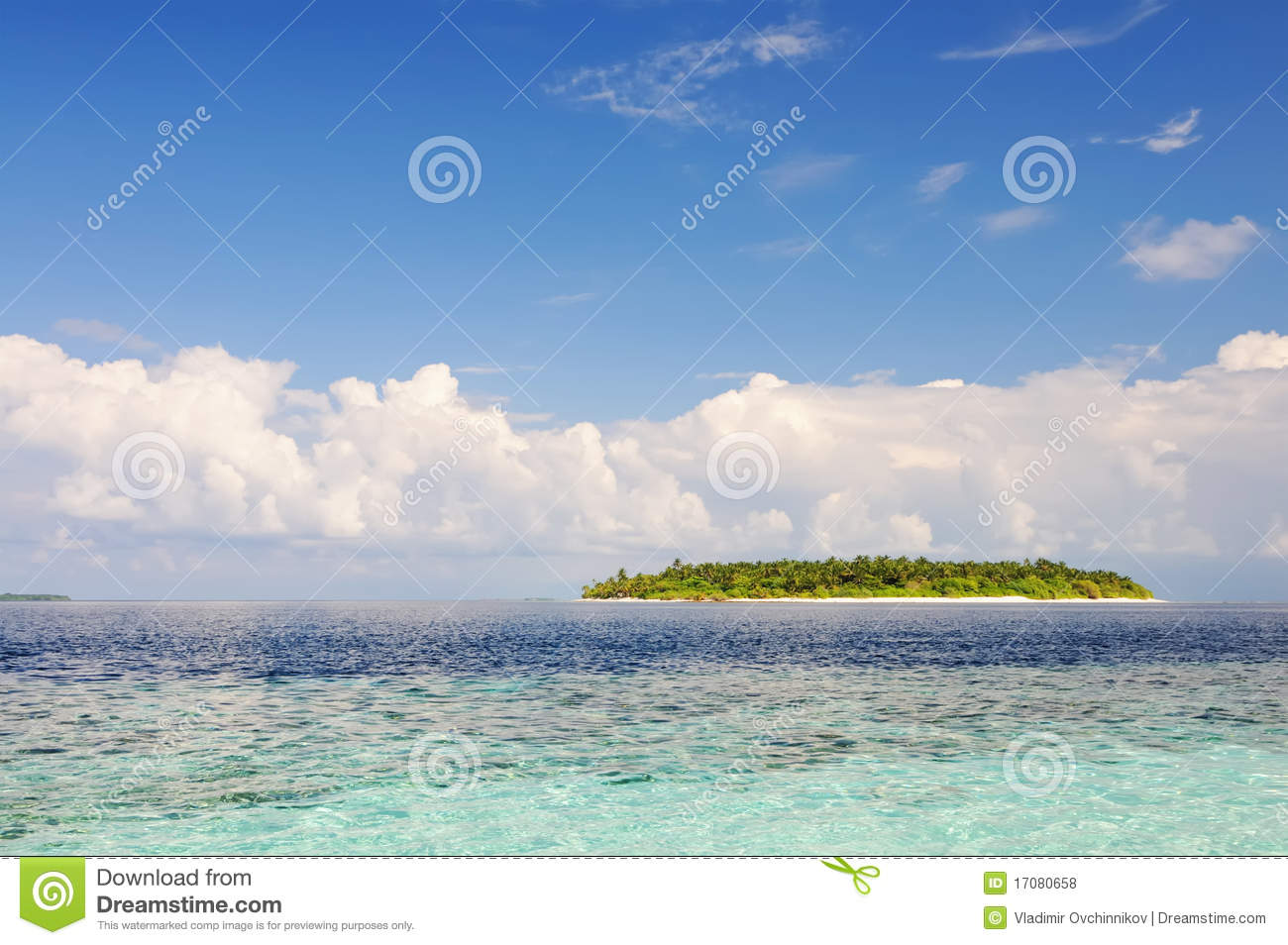 Remote Island Royalty Free Stock Photos.