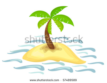 Desert Island Stock Images, Royalty.