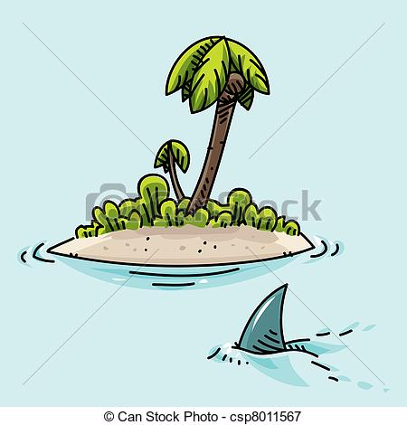 Stock Illustrations of Tiny Island.