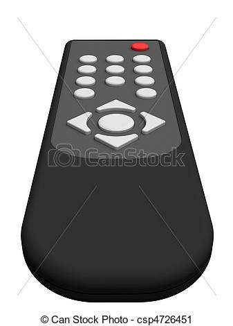 Clipart of Universal remote control isolated on white background.