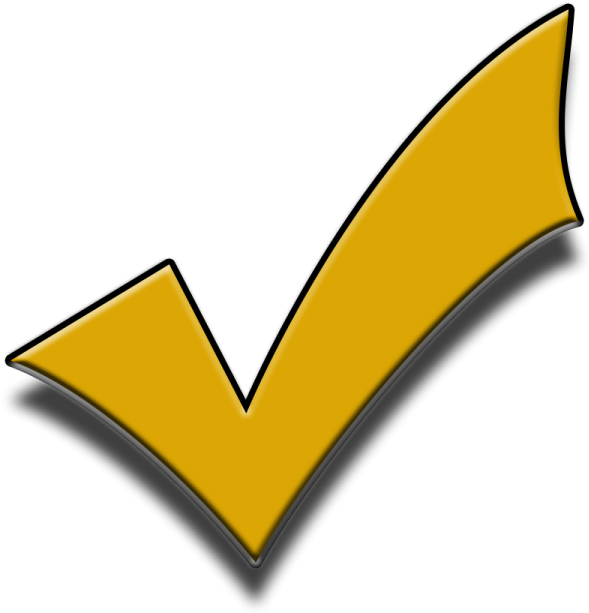 Free Download Yellow Png Tick Transparent Background.